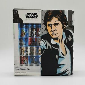 Disney-Star-Wars-Collage-Character-Fabric-Shower-Curtain-BRAND-NEW