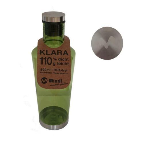 Mehrweg Tritan Flasche Klara 800ml Grün Trinkflasche Sportflasche Schulflasche