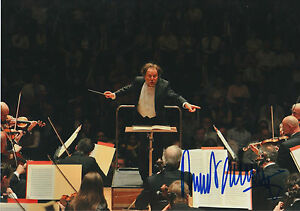 Music Riccardo Chailly Signed 8x12 Inch Photo Autograph Classical, Opera & Ballet