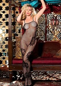 Black-Big-Fishnet-amp-Floral-Pattern-Body-Stocking-with-Open-Crotch-One-Size-90310