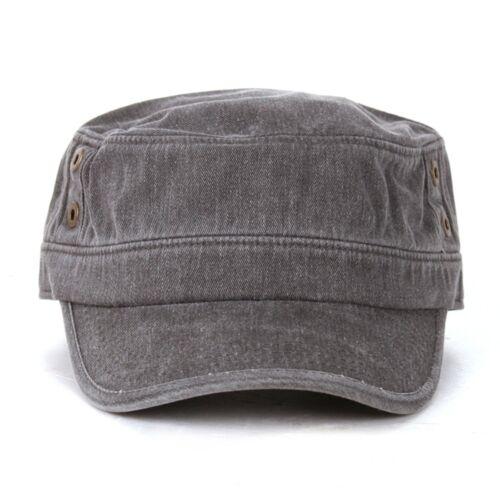 Unisex Cadet Military Army Patrol Cap Visor Trucker Distressed Man Camo hats mpl