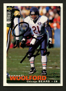 Donnell Woolford #12 signed autograph auto 1995 Upper Deck Football Trading Card