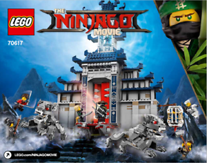Lego Le Ninjago Movie 70617 Temple De Arme Ultime-manuel D'instructions Uniquement-afficher Le Titre D'origine