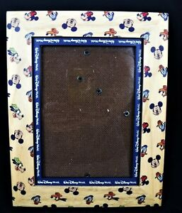 Disney Mickey Minnie Mouse Pluto Donald Duck Picture Frame Wood