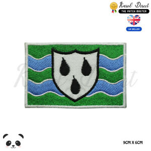 WORCESTERSHIRE-England-County-Flag-Embroidered-Iron-On-Sew-On-Patch-Badge