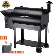 Z Grills ZPG-7002B Wood Pellet Grill BBQ Smoker with Digital Control+Free Cover