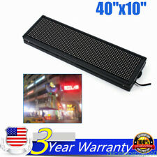 1set 40x10inch Full Color Led Sign Programmable Scrolling Message Display Banner