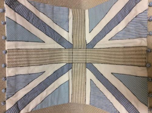 * Clayre /& Fed Coussin Housse bleu union jack drapeau 35x50cm maison de campagne shabby
