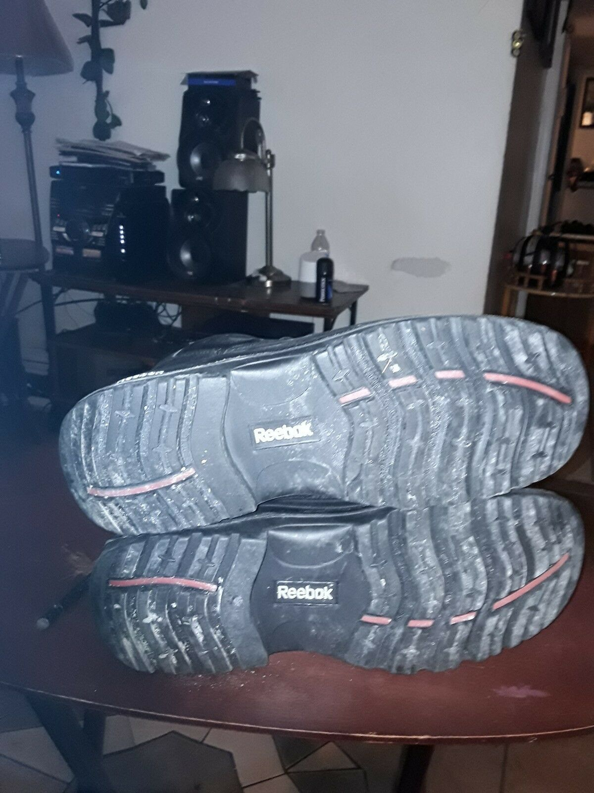 Mens Reebok Steel toe Work stivali Dimensione 12 W W W protective footwear, worn once e07ec2