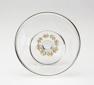 Fundamental ANTIQUE SILVER OVERLAY FLORAL ENAMEL GLASS TAZZA 19TH ...