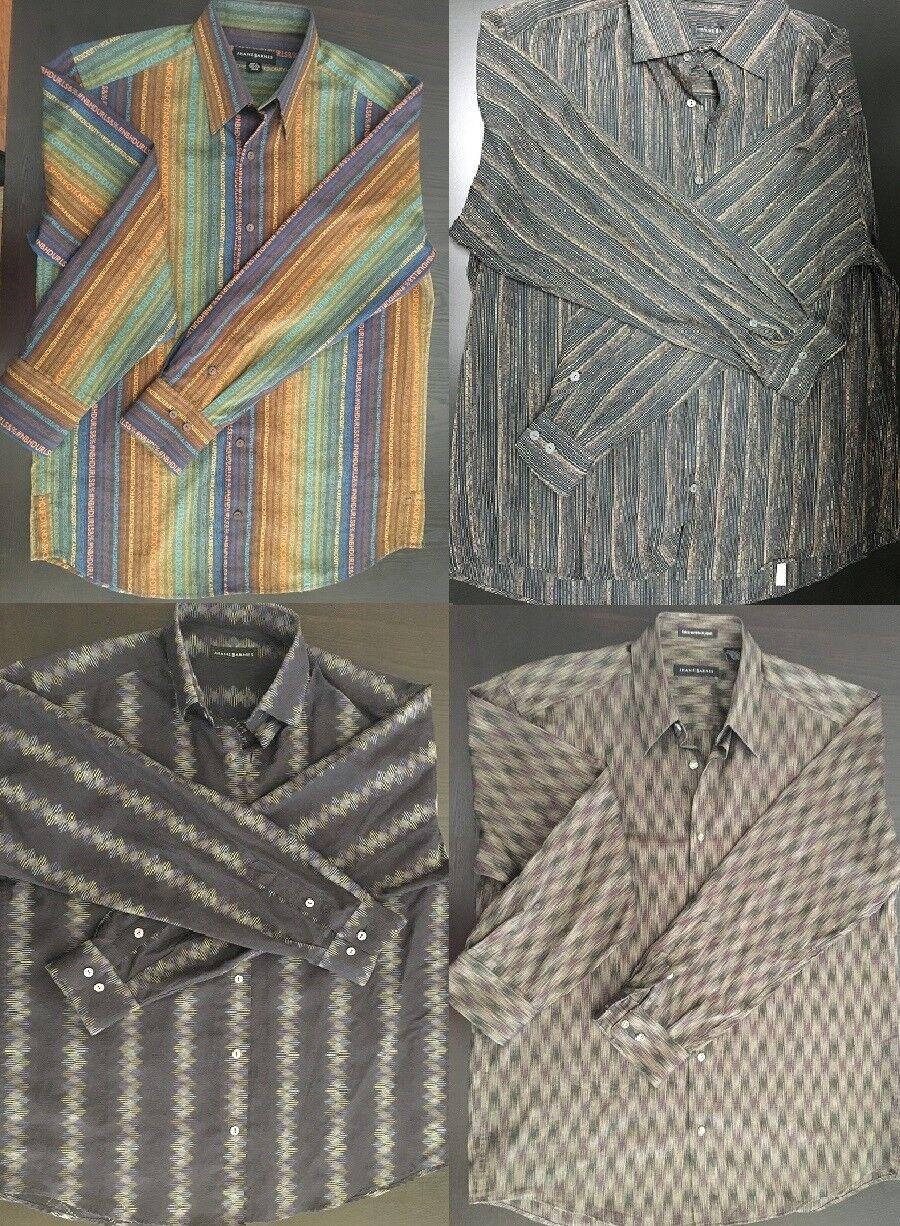 FOUR of JHANE BARNES Long Sleeve Shirts,Mens M M, Multicolor