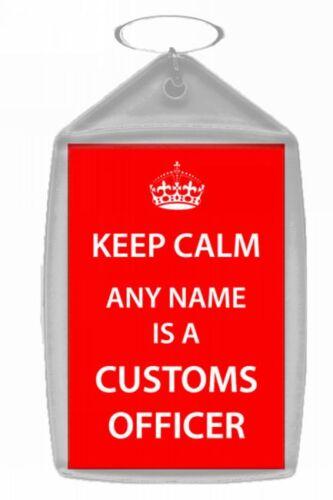 Agent de douanes Personnalisé Keep Calm trousseau