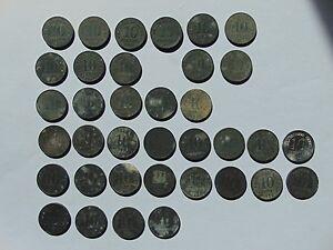 38 Münzen Deutsches Reich 10 Pfennig 1917 1922 Km26 Einschl