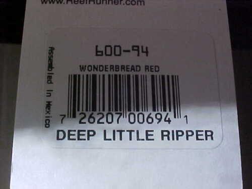 Reef Runner Deep Little Ripper 600-94 WONDERBREAD RED Cast//Troll for Walleye
