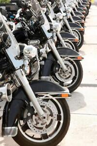 Police-Motorcycles-Lined-Up-in-a-Row-Photo-Art-Print-Poster-24x36-inch