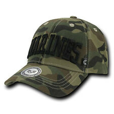 Marines Woodland Camo Camouflage USMC Military Baseball Ball Cap Caps Hat Hats
