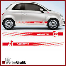 Fiat Style Abarth Punto Skorpion 500 Seitenstreifen Seitenaufkleber #113
