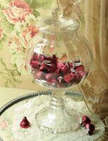 "Glass Pedestal Candy Jar or Round Apothecary jar 10.5"" Free Ship NIB"