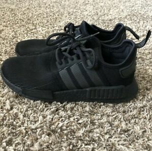 f18693e5d74fc ADIDAS NMD R1 TRIPLE BLACK REFLECTIVE RARE RUNNING SHOES SIZE MEN S ...