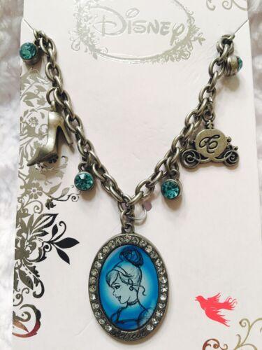 Disney Princess Cinderella Charm Bracelet Pewter Tone Charms Bracelets NWT
