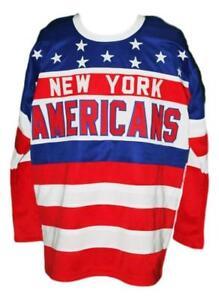 Any Name Number Size New York Americans Retro Custom Hockey Jersey