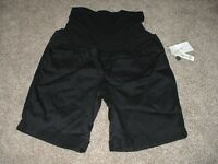 Black Shorts Womens Size Medium M Duo Maternity Spring Summer Clothes