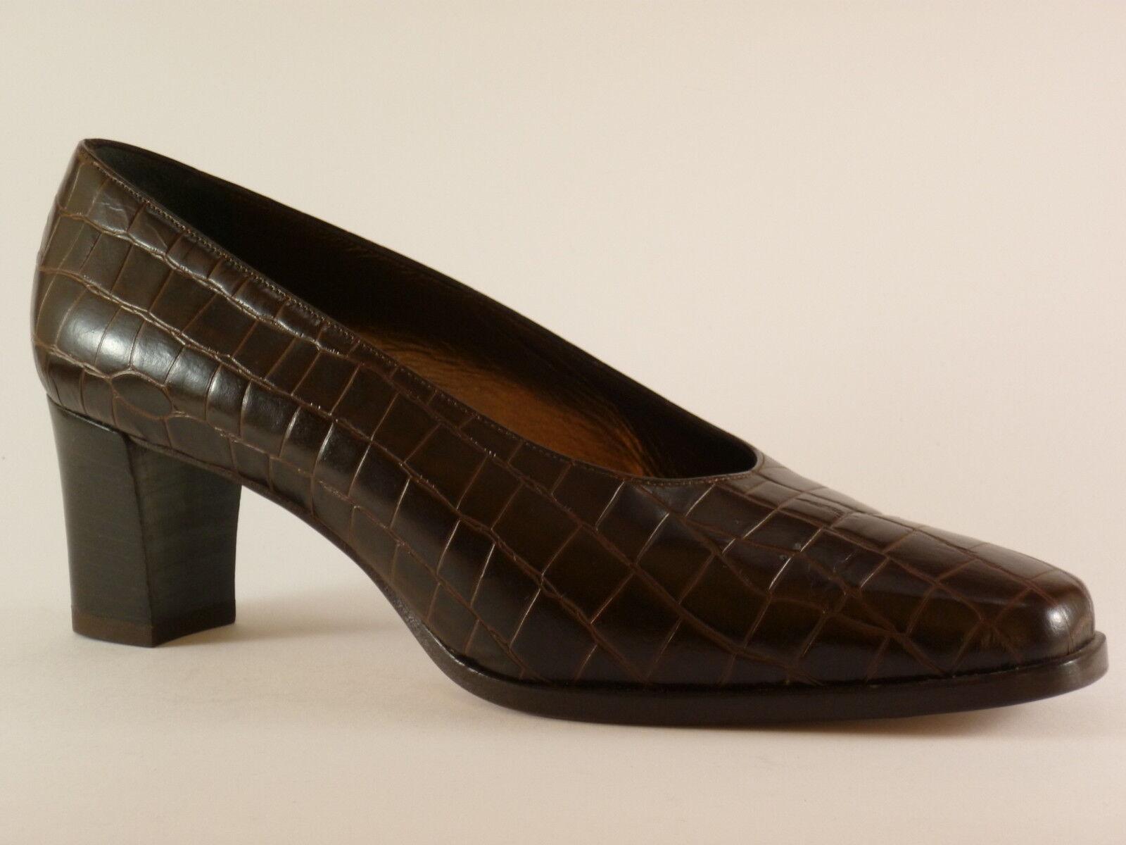 Marcello Giovannetti Chaussures Femmes 39 1 2 Cuir Marron de Soirée Escarpins
