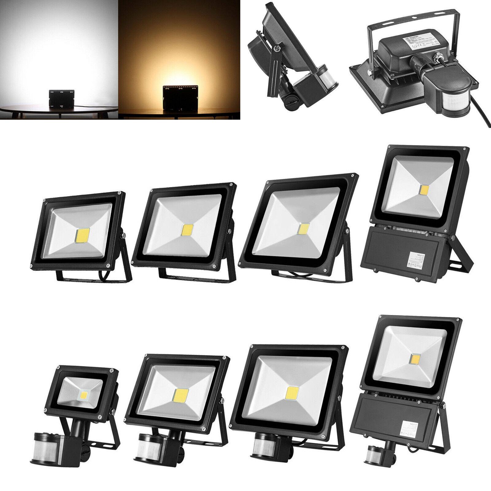 LED Flutlicht Fluter Strahler COB Außen Scheinwerfer 10W 20W 30W 50W 100W 300W