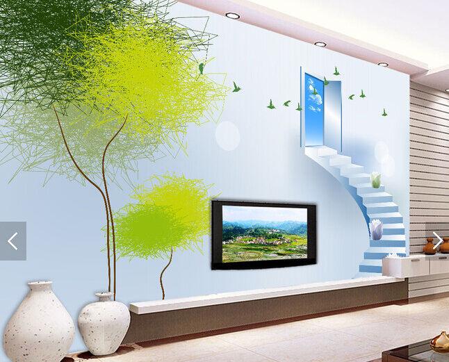 3D Bäume, Leiter 2947676 Fototapeten Wandbild Fototapete BildTapete Familie DE