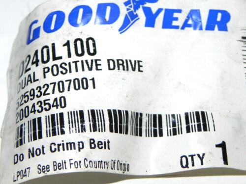 GOODYEAR D240L100 TIMING BELT POSITIVE DRIVE NEW
