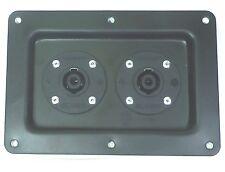 One Large Metal Speaker Jack Plate w/ 2 Genuine Neutrik SpeakOn NL4MPR Connector