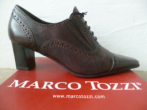 Marco Tozzi Court Shoes Casual Shoes Slippers Leather Braun New IN