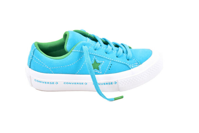 f5ed080b6be1 Converse Unisex One Star OX Premium 159813 Shoes Blue Size UK 6 RRP £85  BCF87