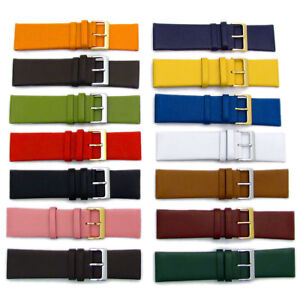 Fine-Calf-Leather-Watch-Strap-Band-14-Colours-22mm-24mm-26mm-28mm-30mm