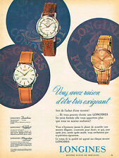 PUBLICITE ADVERTISING 124  1960  LONGINES   2   collection montres