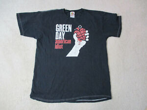 Green Day American idiot Concert Shirt Adult Large Black Red Rock Your Music *