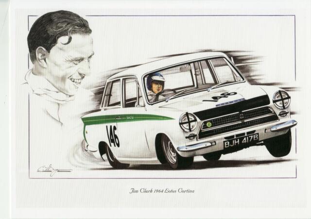 Lotus Cortina Jim Clark Oulton Park Gold Cup ? Brands Dugan Large Greeting Card