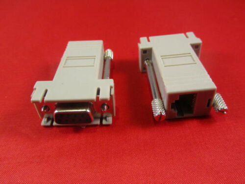 Cisco RJ45 to DB9 Female Adapter Console PC Serial.