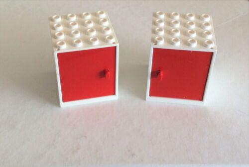 837 838 Schrank 4x4x4 weiß Tür rot 2 Stück 83 # Lego