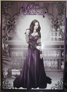 Image Is Loading Handmade Gothic Christmas Card A Demure Lady In