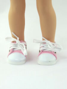 Pink-Sneakers-Fits-Wellie-Wishers-14-5-034-American-Girl-Clothes-Shoes