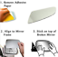 AH Right side mirror glass to suit HOLDEN ASTRA 10//2004-2009 Convex Only Glass