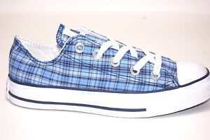 Converse-Unisex-All-Star-CT-Plaid-OX-108689F-Blue-Canvas-Shoes