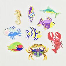 Nettes Kind-Eisen auf Flecken nähen Applique-Fertigkeit gestickte Tiere Fische