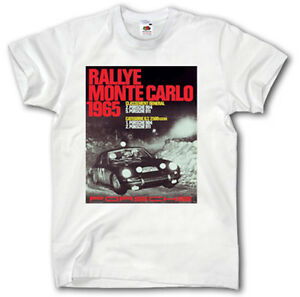 porsche vintage poster shirt s xxxl monte carlo rallye 911. Black Bedroom Furniture Sets. Home Design Ideas