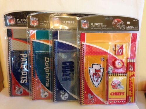 NFL 11 Piece Team Stationary Set School Study Value Kit OR Office Supply