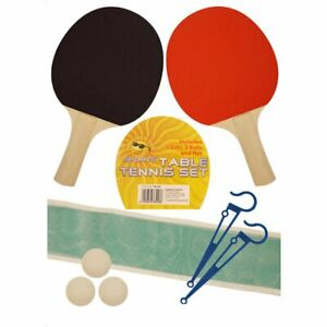 2 joueur de tennis de table ping pong Set chauves-souris 3 boules Net Pole Set Fun Sports Indoor