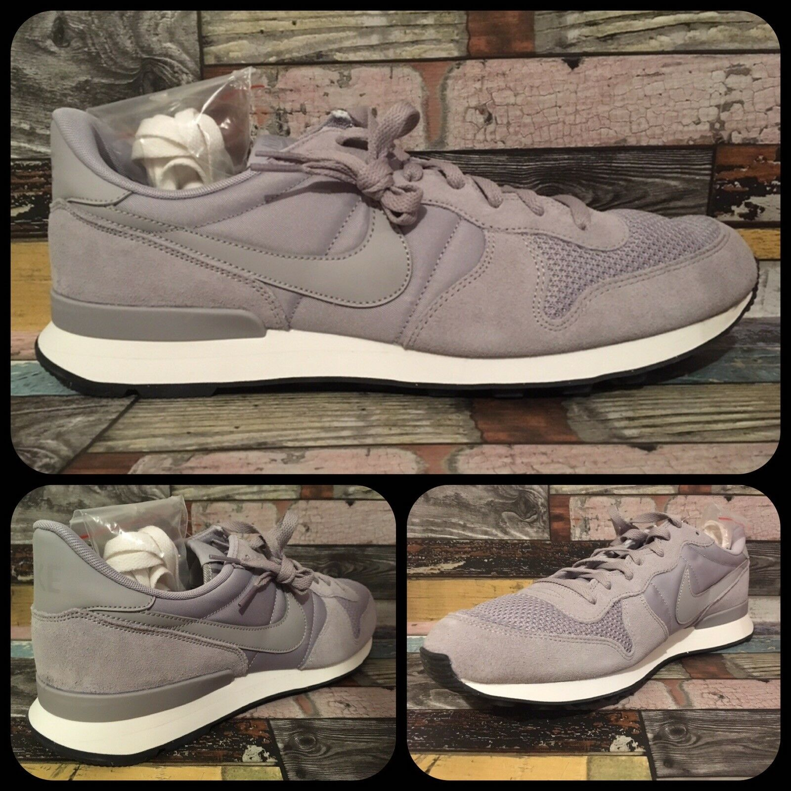 Nike Internationalist SE   UK 13 EU 48.5 US 14   AJ2024-001 Wolf grau Weiß