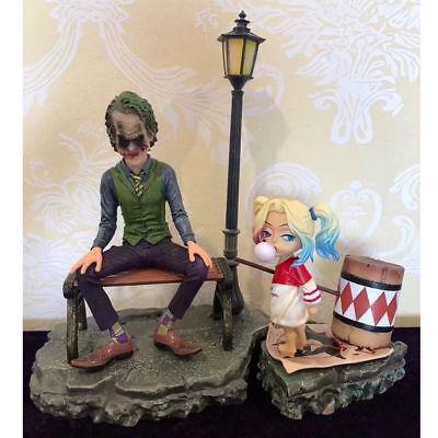 Suicide Squad Scene Ver Joker /& Baby Harley Quinn  Statue Model New No Box