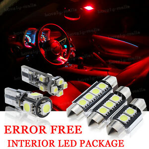 14x Bulbs For Audi A6 05 2011 Canbus Interior Package Xenon Red Led Light Kit Ebay